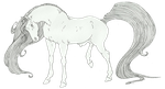 Horse Lineart-FREE to use by Utakame