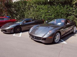 Ferrari 599 and F430 in gray by Partywave