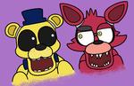 Foxy And Golden Freddy Having A Chat by KittyCaramel