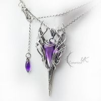 ULVINTIEER  - silver and amethyst by LUNARIEEN