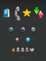 Interface Icons draft by dimpoart