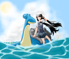 Lapras Used Surf! by Rees-bees