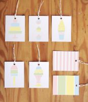 Printable Pastel Gift Tags by ClementineCreative
