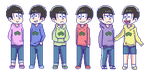 The sextuplets [Osomatsu-san][PageDoll] by Geni-Chi801