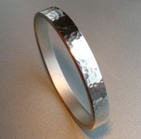 Mirrored Hammered Bangle by Spexton