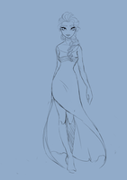Queen Elsa WIP by DinaConcept