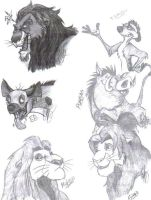 The Lion King Characters by ArtistMaz