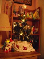 Pony Christmas tree layout by Bee-chan