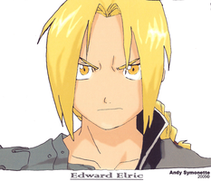 Edward Elric Drawing 3 2005 by andys184