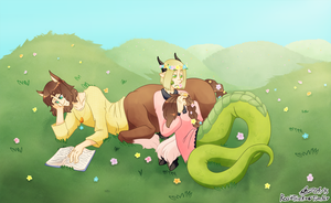 aph: monstertalia - flowers and hills by Rose-McSugar