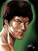 Bruce Lee by Simon-Williams-Art