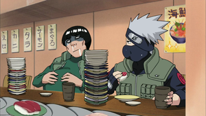 Kakashi and Guy at Sushi-Eating Contest by TheBoar