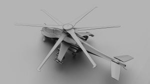 Future Helicopter from above by forgedOrder