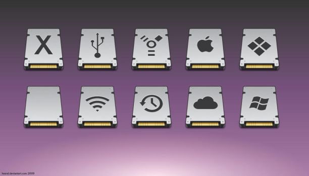 WIP icon set for hdd by hezral