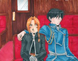 FMA-Unexpected Affection:color by Hikaru9