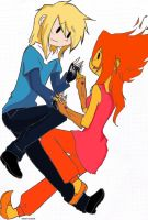finn x flame princess by vanejrvocaloid
