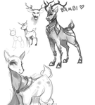 Deer, Early Concepts by FoxInShadow