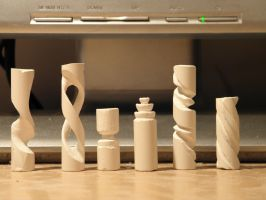 Chalk carving collection by RetardedDogProductns