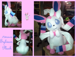 Pokemon Sylveon Plush by methuselah-alchemist