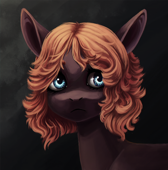 Pony portrait by Weird--Fish