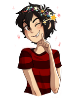 A flower crown but with junk instead of flowers by kemiobsesses