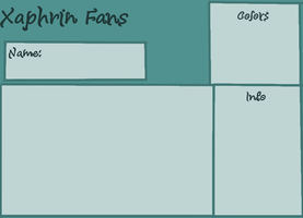 Xaphrin Fans water Xaphrin  Ref sheet by Inked-Owl