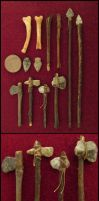 My Little Collection Of Stone Age Weapons by AtriellMe