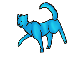 Blue Cat Skipping? by thekoicat
