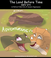 Land Before Time: Littlefoot Falls Into Depression by WeisseEdelweiss