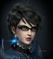 Bayonetta Portrait by DemonLeon3D