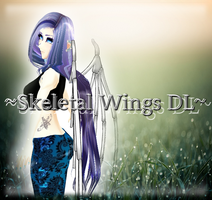 [MMD] Skeletal wings DL by DeidaraChanHeart