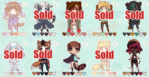 [OPEN - 3 Left] Kemonomimi Adopts - Now only $2 by Valkymie