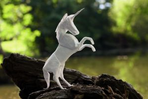 August Unicorn (origami) by FoldedWilderness