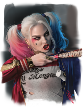 Harley Quinn study II by WarrenLouw