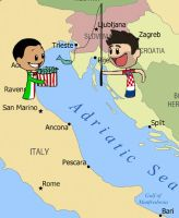Croatia and Italy by ShrapnelLeader
