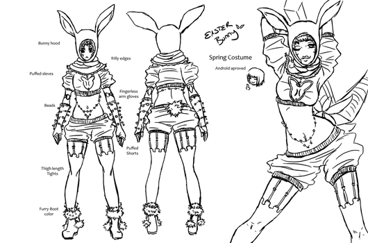 Bunny Costume.-Lined by Nullifie