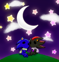 Sonic and Shadow: Starry Skies by hikaru-michi