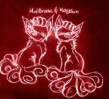 Holbrook and Haysun by FuneralDyingheart