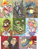 muppet and Star Wars cards by katiecandraw