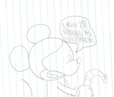 Mickey abandons the Paintbrush by SuperMarcosLucky96