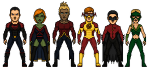 Young Justice Re-Design by Melciah1791