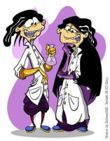 Double D and Double M by MoostarGazer