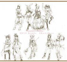 2010 Girls Sketches by pechucky