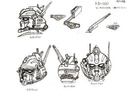 Gundam Head Design by RedW0lf777sg