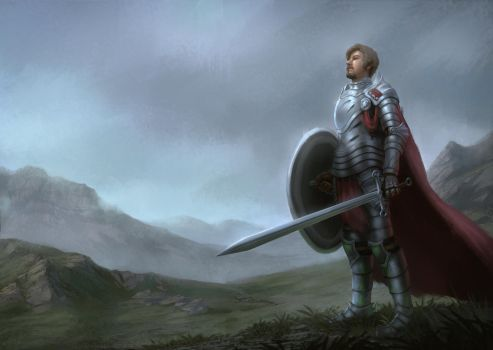 Knight Self Portrait by Sucdeportocale