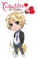 Amour Sucre 4 Plan de Vol - Chibi Nathaniel color by xiannustudio