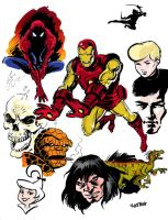 Classic Iron Man and  Sketches by LostonWallace