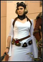 Steampunk Princess Leia by cyborgseamstress