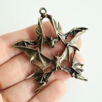 Bat Pentagram Pendant FOR SALE by MonsterBrandCrafts