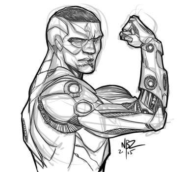 Cyborg Sketch by NelsonBlakeII
